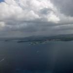 Vue aérienne de la Martinique