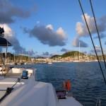 Départ du port Le Marin