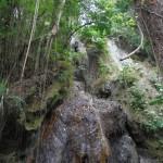 La chute des bains chauds de la Soufrière