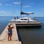 Ravitaillement (notre catamaran)