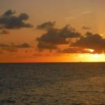 Coucher de soleil au Bleue Lagoon