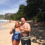 Du bon vin sur la plage de Bequia