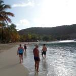La plage de Mayreau