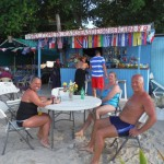 Relaxation sur la plage de Mayreau