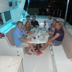 Le souper en groupe à Béquia