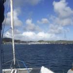 À l'approche du port Le Marin de la Martinique