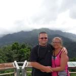 Patrick et Marie-Josée à l'Observatoire de la Montagne Pelée
