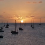 Coucher de soleil à Ste-Anne de la Martinique