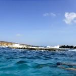 Protégés des vagues par les roches